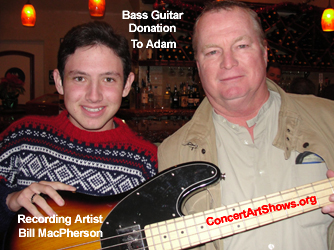 Adam Sortomme With Recording Artist Bill MacPherson