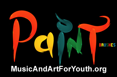 Paint Brushes Music And Art For Youth Logo Visual Art