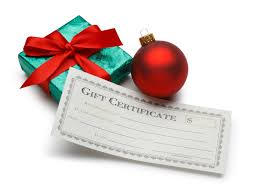 Gift Certificate For The Christmas Day Show